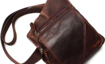 Túi đeo chéo da thuộc - Quà tặng tri ân khách hàng
