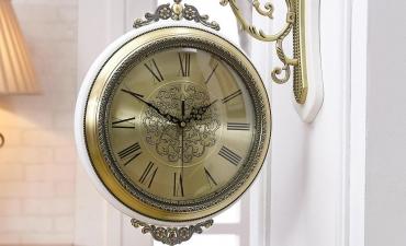 Đồng hồ treo tường Phong cách Châu Âu cổ điển - Quà tặng sang trọng